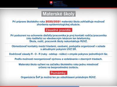 Základné informácie ministerstva školstva k príprave školského roka